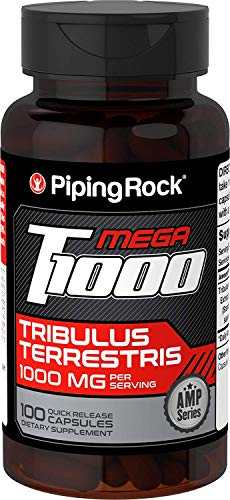 Piping Rock Ultra Tribulus Max Standardized 500 mg 100 Quick Release Capsules Dietary Supplement