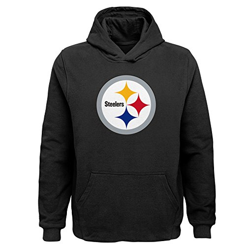 NFL Pittsburgh Steelers Toddler Primary Logo Sueded Classic Hoodie Black, 3T