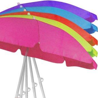 (Riya@) 150 cm / 160 cm Sonnenschirm Strandschirm Schirm Gartenschirm 5 Farben (Rot)
