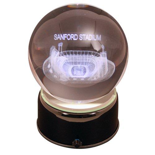 NCAA Georgia Bulldogs Sanford Stadium Etched Lit Rotating Musical Crystal Ball