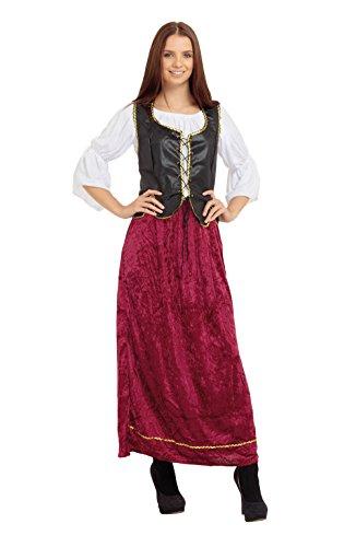 Bristol Novelty AC385 Tudor Wench Female Costume (One Size) ()