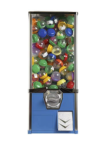 2'' Toy Capsule Vending Machine Four 25 Coins $1.00 Acorn Round Capsules Bouncy Balls (Blue) by Global Gumball (Image #1)
