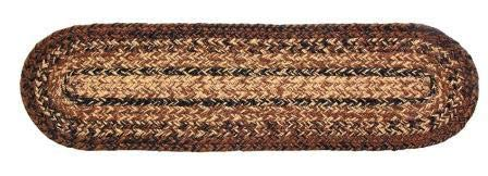 IHF Home Decor Cappuccino Jute Braided Stair Tread Oval Rug 8 x 28 Inch from IHF Home Decor