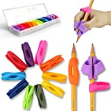 Pencil Grips, Firesara New Design Ergonomic Rainbow Pencil Grips for Kids Handwriting, Pencil Grip Posture Correction Training Writing Aids Claw for Kids Preschoolers Students Special Needs(12Pcs)