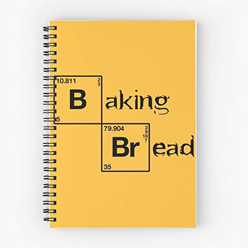 Bread Baking Spiral Cute School Five Star Spiral Notebook With Durable Print