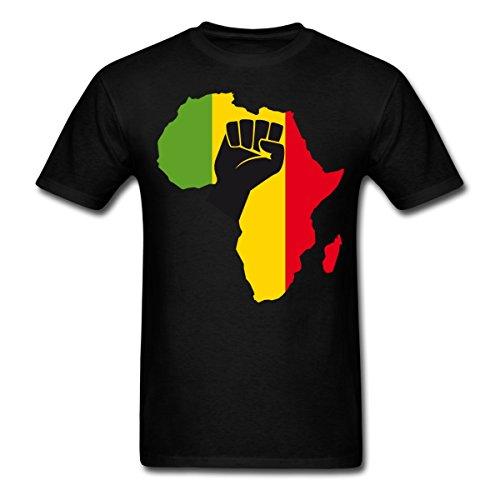 Spreadshirt Africa Black Power Fist Men's T-Shirt, 5XL, Black by Spreadshirt