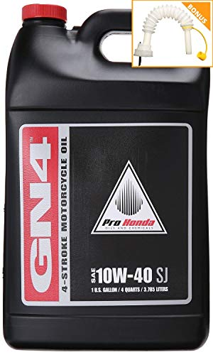 Pro Stock Motorcycle - Honda 08C35-A141L01 Pro GN4 Motor Oil, 10W40, 1 gal PLUS Shinespout