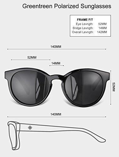 M mujer para sol Gafas Negro de Lemantreen Negro qI70wFtt