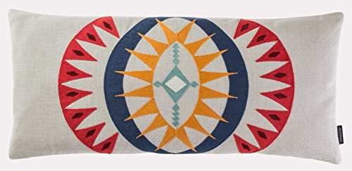 Pendleton Woolen Mills Point Reyes Crewel Embroidered Hug Pillow, One Size ()