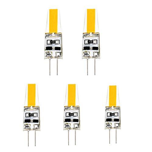 G4 LED Bulb, Bi-Pin Base, 2 Watt COB Led Bulbs (25W Halogen Equivalent), AC/DC 12V, Landscape Lighting Led Bulbs, Waterproof Halogen G4 20W ~ 25W led Replacement Warm White 3000k (5-Pack)