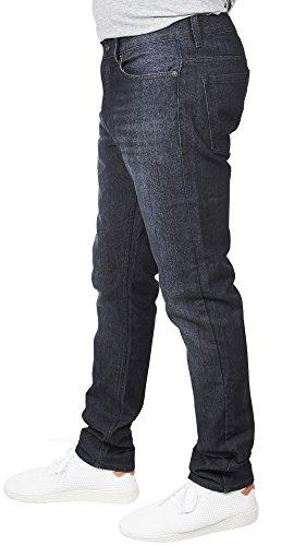 VINTAGE GENES 1891 Mens Stretch Skinny Washed Denim Jeans, Dark Enzyme Blue 34x32 by VINTAGE GENES (Image #2)'