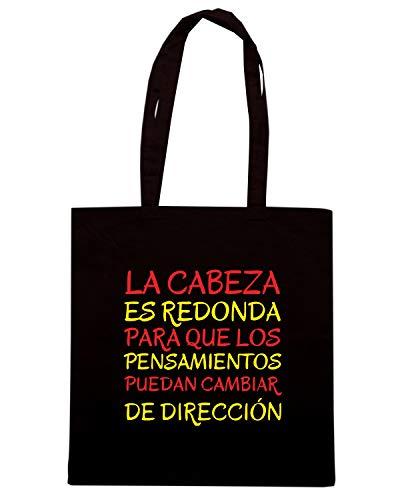 LOS DIRECCION QUE CABEZA REDONDA Shopper Borsa LA Nera PARA CIT0137 PENSAMIENTOS ES DE PUEDAN CAMBIAR 68z6wgfxq