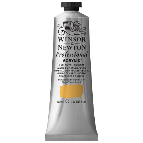 Winsor & Newton Professional Acrylic Color Paint, 60ml Tube, Naples Yellow Deep