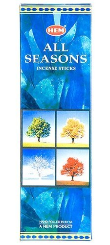 All Seasons - Box of Six 20 Stick Tubes - HEM Incense
