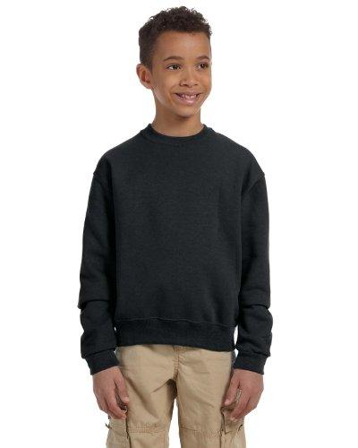 Jerzees Sweatshirt 562b (Jerzees Youth 8 Oz, 50/50 NuBlend Fleece Crew, Medium, Black)