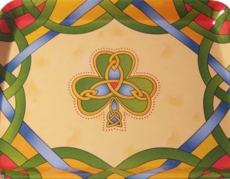 Shamrock Tea Tray-Irish Weave