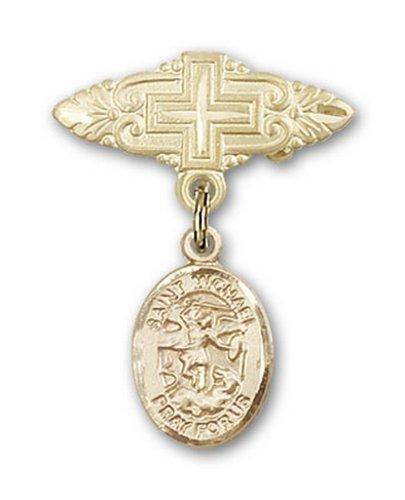 Icecarats Or Bijoux De Créateurs Rempli R. Michael La Broche De Badge Charme Archange Croix 1 X 3/4