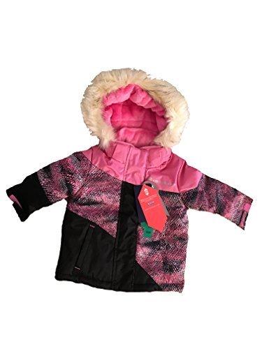 Free Country Little Girls' Snow Flurry Boarder Jacket, Pink swizzle, 18m