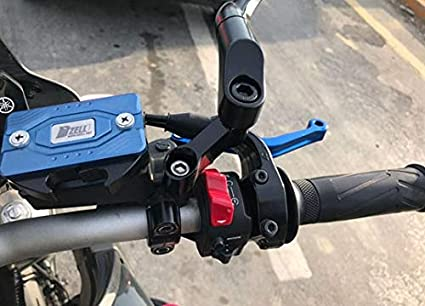 M10 and M8 CNC Motorcycle Handlebar Rearview Mirror Extended Mount Bracket Bar Spotlight Cell Phone Holder