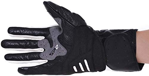 Seibertron SPW-2 Carbon Fiber Hard Knuckle Waterproof Touchscreen Leather Motorcycle Gloves Black L