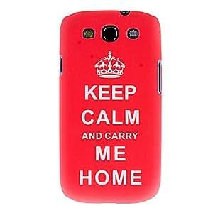 conseguir Impresión de la cubierta del caso del patrón de transferencia térmica de corona roja para Samsung I9300 Galaxy S4