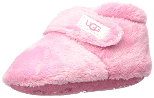 UGG Baby BIXBEE Crib Shoe, Bubblegum, 02/03 M US Infant (Slipper Booties For Girls)