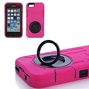 The Silicone Rings Protection Shell Shock Drop Back Cover for iPhone 6 Plus(Assorted Color) , Rose