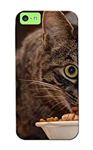 Iphone 5c Case - Tpu Case Protective For Iphone 5c- Cat Eating Case For Thanksgiving's Gift