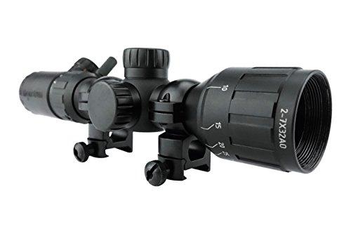 Monstrum Tactical 2-7x32 AO Rifle Scope with Illuminated Range Finder Reticle (Black)