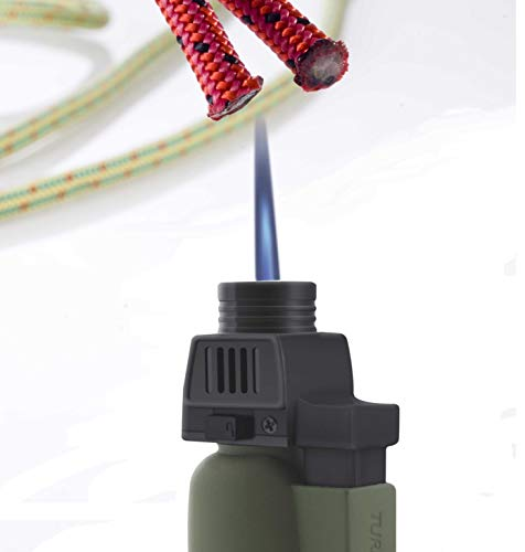 TURBOFLAME | Windproof Military Field Lighter | Mini Blow Torch For Camping – Matt Olive Green