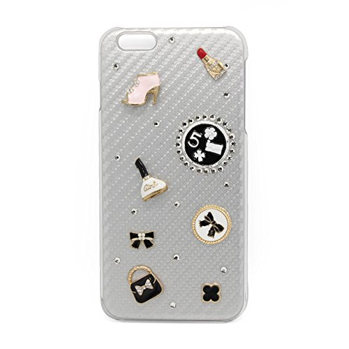 Aidocrystal Handmade Cute Decoration iPhone 6 Plus Case with Fibre Coated Non Slip Mat Surface for Excellent Grip for iPhone 6S Plus / iPhone 6 Plus (…