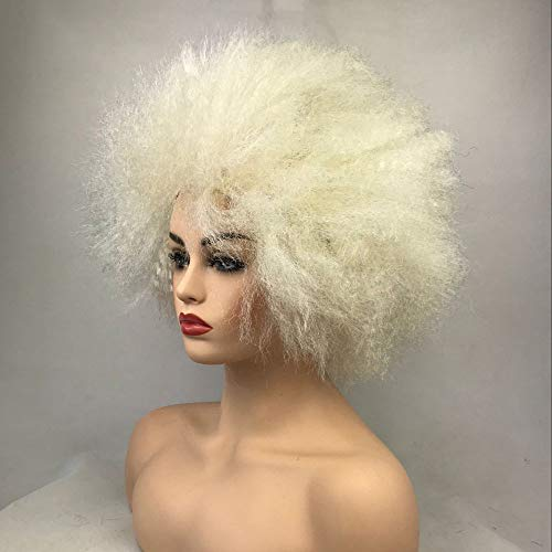 Afro Wig Synthetic Hair Pink/Yellow Clown Wigs Cosplay Halloween -