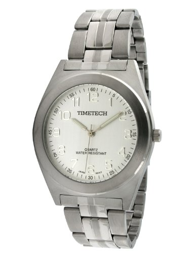 Sub Mariner Date Watch (Timetech Steel 3609M Men's Steel Silver Dial Bracelet Watch)