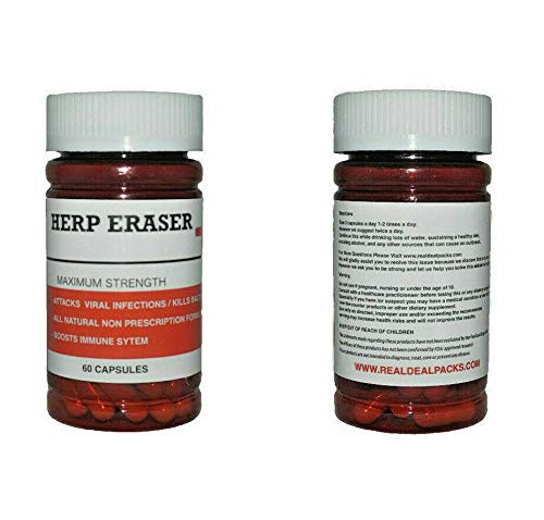 Herp Eraser Herpes Treatment Immune System Support Virus (60 Capsules) Herbal Plant Extracts Dr Sebi 100% All Natural