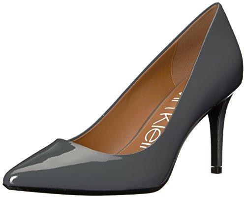 Calvin Klein Women's Gayle Pump, Steel Greystone Patent, 9 M US -