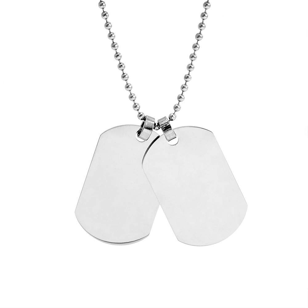 Eve's Addiction Medium Stainless Steel Double Dog Tag Necklace by Eve's Addiction