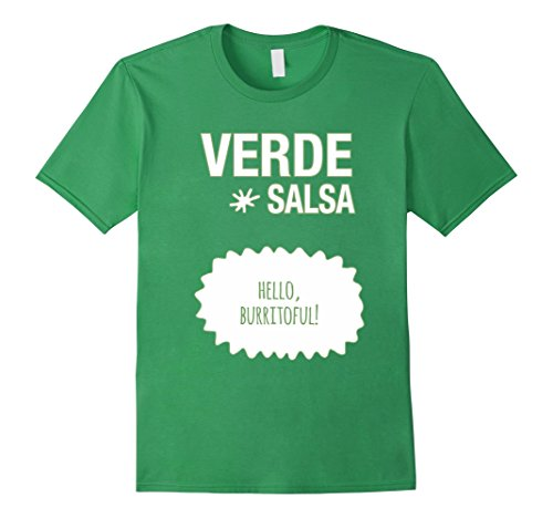Mens Verde Salsa Hot Sauce Packet Halloween Costume T-shirt Large Grass