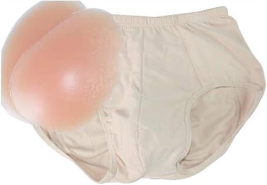 WW Mens Padded Boxer Brief Butt Enhancer Soft Trunk Comfortable Sweat Cotton Underwear,2cm,L