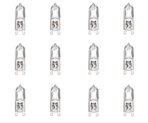 Diall Halogen Capsule Light Bulbs G9 219lm 230V 19W 12 Pack. (3 Packs of 4) Warm White. Dimmable