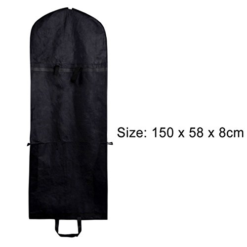Proof Protective Woven Non Cover Dress Dust Portable Suit Black Clothes Coat Garment Bag Folding Fabric xwqIPR4w