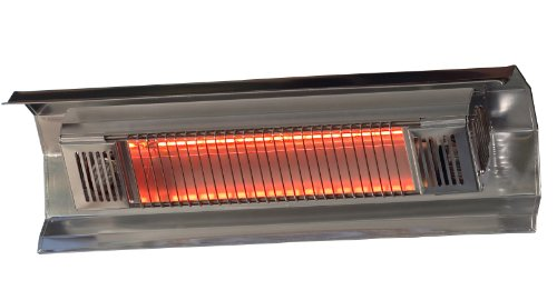 Fire Sense Indoor/Outdoor Wall-Mounted Infrared Heater, Silver (Best Outdoor Patio Heater)