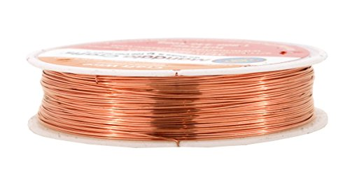Mandala Crafts 18 20 22 24 26 28 Gauge Thick Solid Copper Wire for Beading Wrapping Jewelry Making (26 Gauge 50M, Bare Copper) (Wire Twisted Copper)