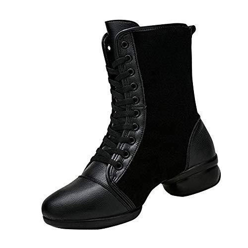 Glissantes Suédé Semelle Douces Chaussures Danse Cuir Jazz Bottes USzVMp