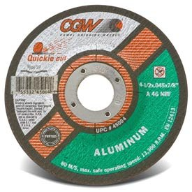 """CGW Abrasives 70115 Cut-Off Wheel 6"""" x 7/8"""" 46 Grit Type 27 Aluminum Oxide - Pkg Qty 25, (Sold in packages of 25)"""