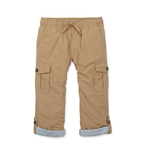 Hope & Henry Boys' Khaki Pull-on Cargo Pants Size 2T (Designer Kids Clothing)