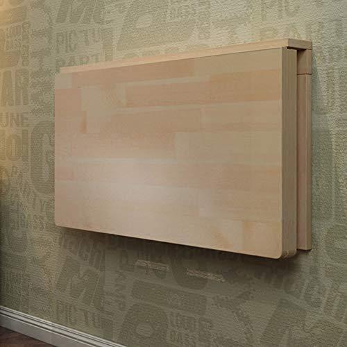 Väggfällbord matbord skrivbord datorbord väggbord – fällbord – studiebord (15 storlekar att välja bland) för små utrymmen/kök kontor/bord monterad på väggen