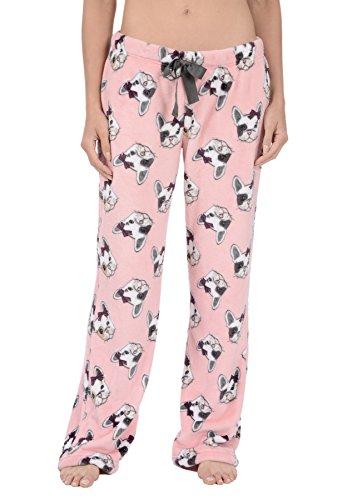 Body Candy Women's PJs Cozy Fleece Plush Pajama Pants (Bull What, Large)