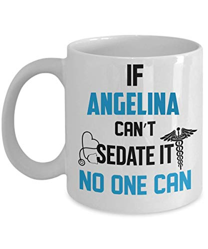 IF ANGELINA CAN'T SEDATE IT, NO ONE CAN 11oz Mugs