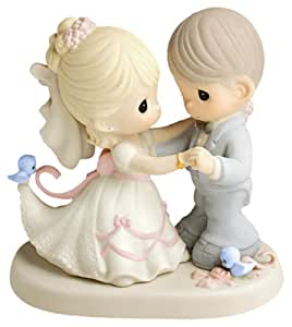 "Precious Moments, Wedding Gifts, ""You Are My Dream Come True"", Bisque Porcelain Figurine, #630026"