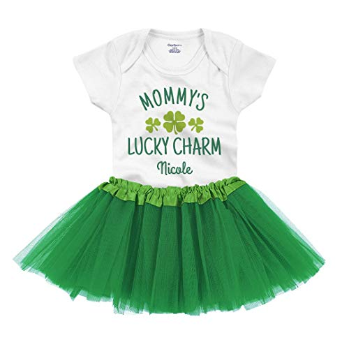 Nicole Mommy's Lucky Charm Outfit: Infant Gerber Onesie with Tutu